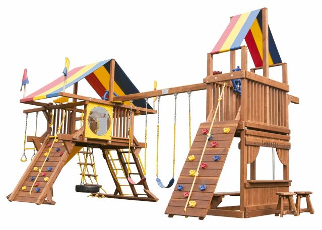 Игровый комплексы Rainbow Play Systems - Саншайн Кастл с Башней Тент (Sunshine Castle with Tower RYB)