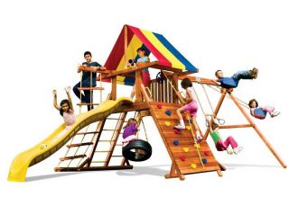 Игровый комплексы Rainbow Play Systems - Фиеста Кастл II Тент (Fiesta Castle Package II RYB)