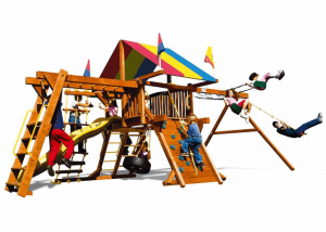 Игровый комплексы Rainbow Play Systems - Саншайн Кастл III Лайт Тент (Sunshine Castle Pkg III RYB Light)